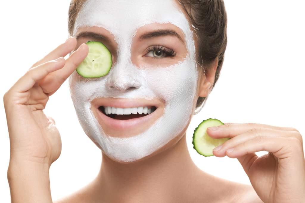 maschera idratante viso al cetriolo