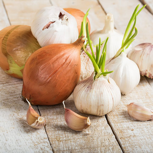cipolla e aglio in spicchi - ortaggi e legumi